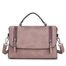 Jual Beli Kgs Tas Selempang Wanita Casual Wanita Impor Two Zippers Satchel Bag Pink Di Indonesia
