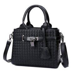 KGS Tas Casual Wanita Woven Locked Mini Handbag - Hitam