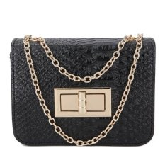 Review Kgs Tas Pesta Formal Wanita Embossed Snake Leather Shoulder Bag Hitam Terbaru