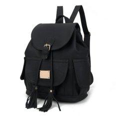 Diskon Kgs Tas Ransel Backpack Wanita Cargo Pockets Hitam Dki Jakarta