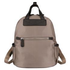 KGS Tas Ransel Backpack Wanita Import Kerja One Front Zipper  - Apricot