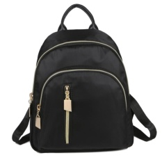 KGS Tas Ransel Mini Backpack Wanita Impor Casual Zippers - Hitam