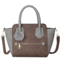 Harga Kgs Tas Selempang Wanita Impor Casual Mini Trapeze Fur Tassel Handbag Khaki Kgs
