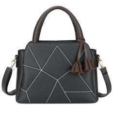 Beli Kgs Tas Wanita Selempang Casual Cracked Tassel Handbag Hitam Yang Bagus