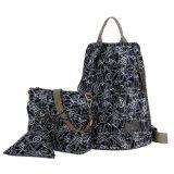 Spesifikasi Kgs Tas Ransel Backpack Wanita Impor Casual Sekolah Alphabet 3 In 1 Hitam Dan Harganya