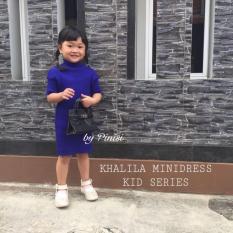 Harga Khalila Minidress Kid Series Anak Mini Dress Turtleneck Midi Murah Warna Maroon Fullset Murah