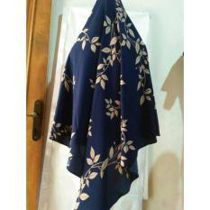 Khimar bubble motif antem anti tembem jilbab syari krudung panjang hijab instan daun muslim wanita / khimar Instan