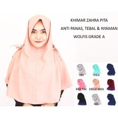 Khimar Hijab Instan Jilbab Kerudung Khimar Zahra - Jilbab Instan - Kerudung Hijab Pashmina Khimar Instan
