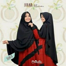 Toko Khimar Ivana Hitam Best Product Online Terpercaya