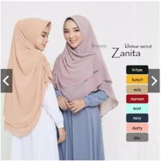 Jual Khimar Kerut Zanita Pashmina Instan Vanilla Hijab Bergo Instan Jilbab Syari Murah Wanita Indonesia Murah
