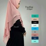 Harga Hemat Khimar Syari Yusfina 2 Layer Jilbab Instan Vanilla Hijab Jilbab Syari Pashmina Instan Hijab