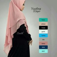 Khimar Syari Yusfina 2 Layer Jilbab Instan Vanilla Hijab Jilbab Syari Pashmina Instan Hijab Jawa Barat Diskon