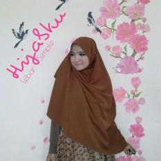 Jual Khimar Wolpeach Brown Hijabku Ls Original