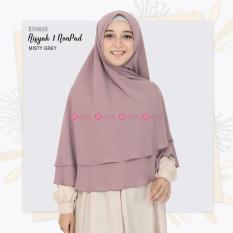 Khimar Zizara Aisyah 1 Non Pad Misty Grey - Hijab Kerudung Khimar