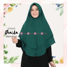 Khimar Zizara Ghaida Green Bottle - Hijab Kerudung Khimar Jilbab Syari