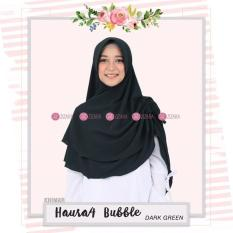 Khimar Zizara Haura 4 Bubble Dark Green - Hijab Kerudung Khimar Jilbab