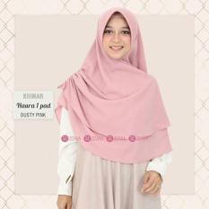 Khimar Zizara Haura Pad Dusty Pink - Hijab Kerudung Khimar Jilbab