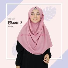 Khimar Zizara Rihana 2 Rose Pink - Hijab Kerudung Khimar Jilbab Syari