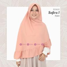 Khimar Zizara Safira 1 New Peach - Hijab Kerudung Khimar Jilbab Syari