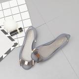 Toko Khusus As Baru Putaran Flat Shoes Wanita Sandal Sepatu Jelly Abu Abu Murah Tiongkok