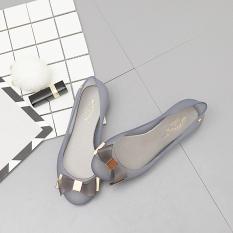 Jual Khusus As Baru Putaran Flat Shoes Wanita Sandal Sepatu Jelly Abu Abu Online Di Tiongkok