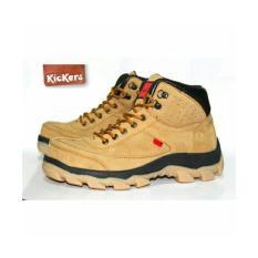 Kickers Boots Safety Ujung Besi - Sepatu Tracking Touring Pria