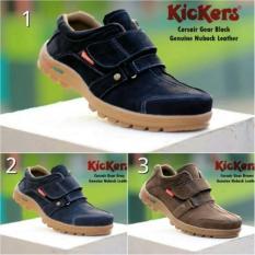 Kickers Corazair Kulit Nubuk Asli / Sepatu Casual / Grosir Sepatu Casual