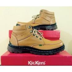Beli Kickers Sepatu Boots Kulit Asli Model Kr 078 Coklat Online Murah