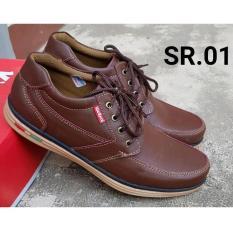 Kickers - Sepatu Casual Pria 100% Kulit Asli Sapi Warna Coklat 01