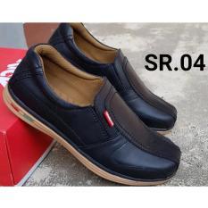 Kickers - Sepatu Casual Pria 100% Kulit Asli Sapi Warna Hitam 04