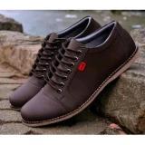 Kickers Sepatu Casual Pria Sneakers Santai Kickers Coklat Hangout Trendy Diskon Indonesia