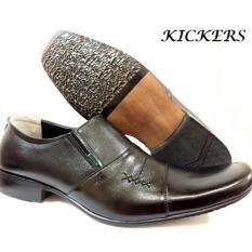Kickers Sepatu Kulit Sepatu Kerja Formal Pria K-656AD  - Hitam