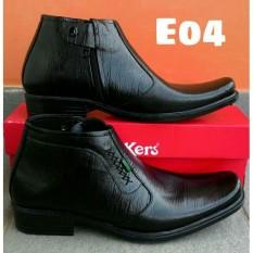 kickers sepatu pantofel PDL hitam pria kulit sapi asli formal kerja resmi d0f9826792