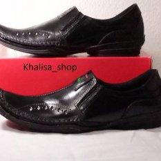 Kickers Sepatu Pria Kulit Asli Model Kr 027 Black Kickers Diskon 40