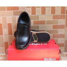 Spesifikasi Kickers Sepatu Pria Slip On Kulit Asli Model Kr 4454 Yang Bagus