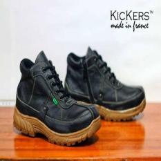 Kickers Tracking Black Sepatu Touring-Mudik Original Handmade Leather