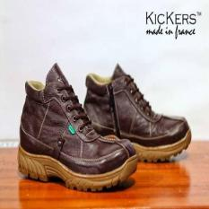 Kickers Tracking Brown Sepatu Touring-Mudik Original Hanmade Leather