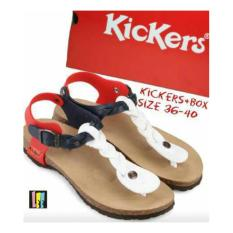 Kickers Woman Sandal Cross - White