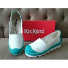 Kickers Women Blue White Wedges