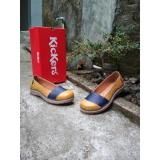 Spesifikasi Kickers Women Brown Blue Flat Shoes Kickers
