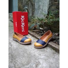 Situs Review Kickers Women Brown Blue Flat Shoes