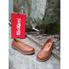 Harga Kickers Women Brown Flat Shoes Asli