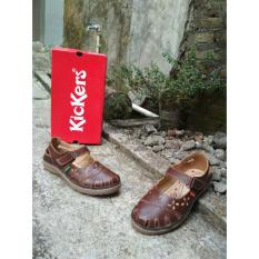 Harga Kickers Women Brown With Strap Lengkap