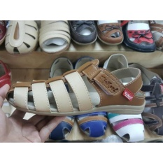 Jual Kickers Women Cream Brown Flat Shoes Kickers Ori