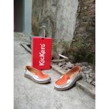Toko Kickers Women Flat Shoes White Orange Termurah
