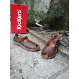 Spesifikasi Kickers Women Flat Shoes With Strap Brown Yang Bagus