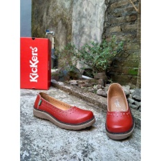 Beli Kickers Women Full Red Leather Kickers Murah
