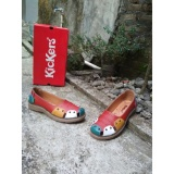 Penawaran Istimewa Kickers Women Red Flat Shoes Terbaru