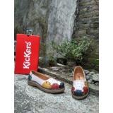 Spesifikasi Sepatu Flat Wanita Kickers White Combine Leather Yang Bagus