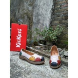 Beli Sepatu Flat Wanita Kickers White Combine Leather Di Jawa Timur